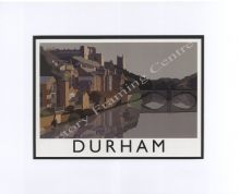 Durham - Modern Railway Poster Style Mounted Print